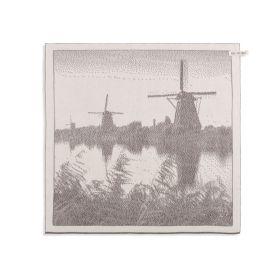 Kitchen Towel Windmill Ecru/Taupe