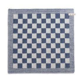 Küchentuch Block Ecru/Jeans
