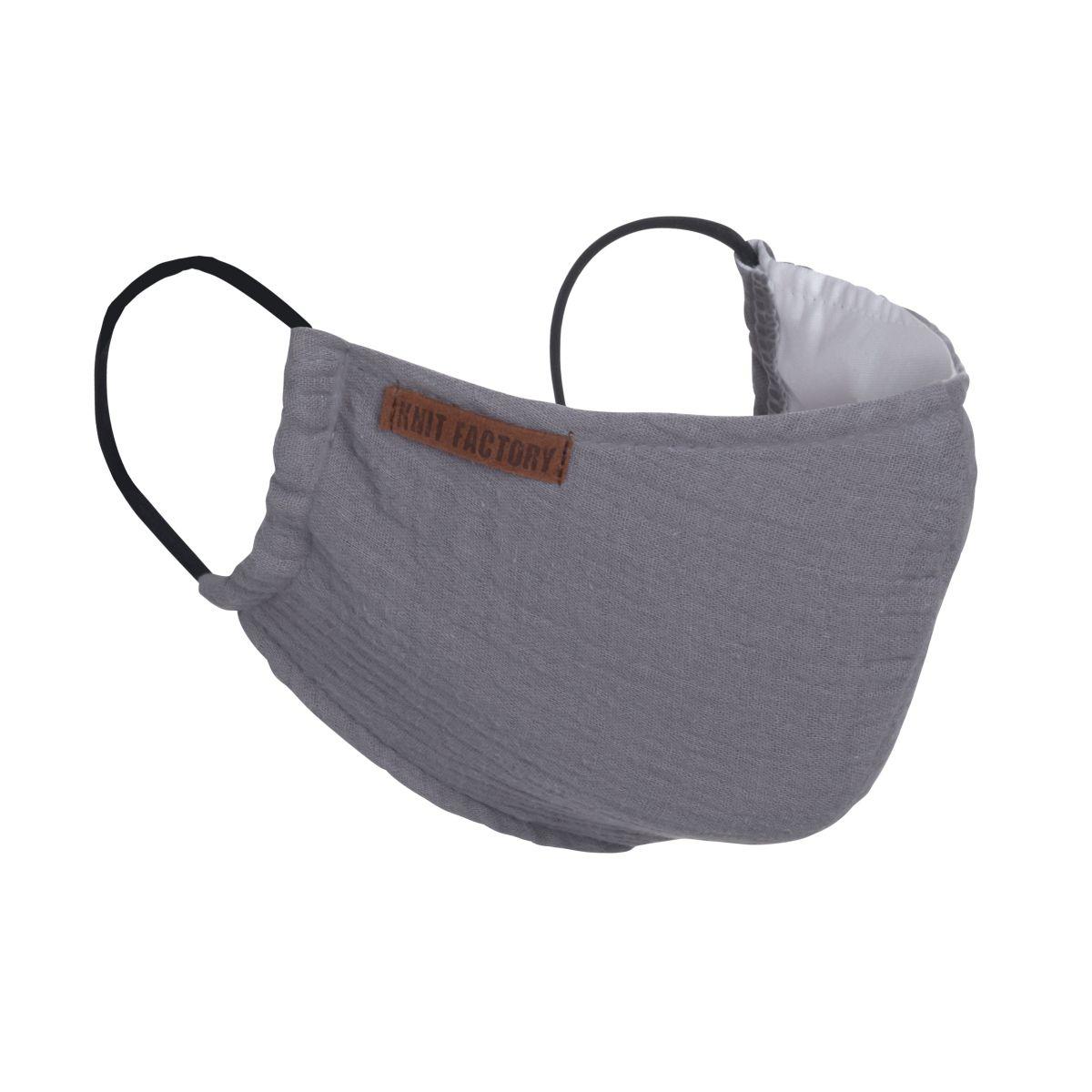 knit factory kf12810501050 liv mondmasker antraciet 1