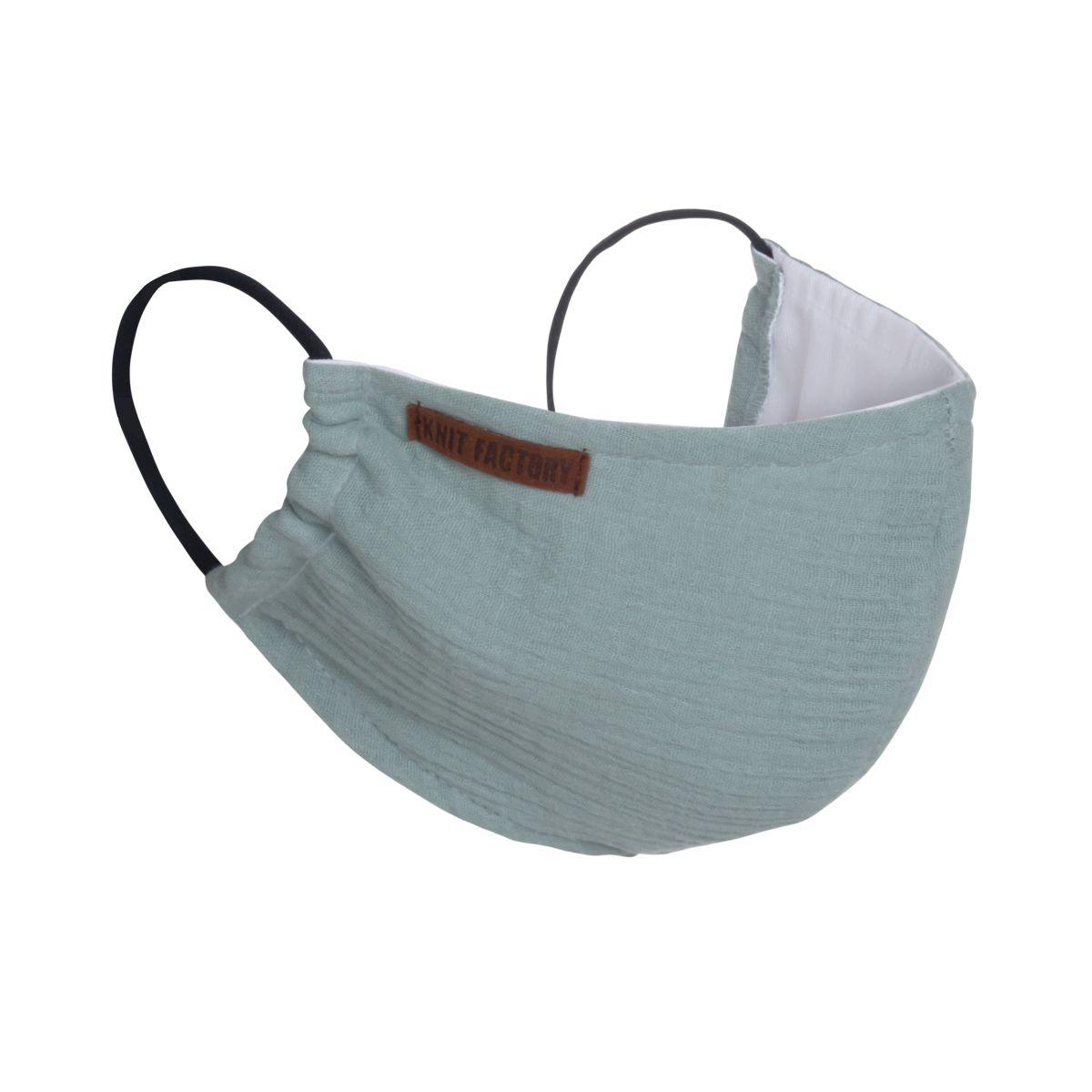 knit factory kf12810500950 liv mondmasker stone green 1