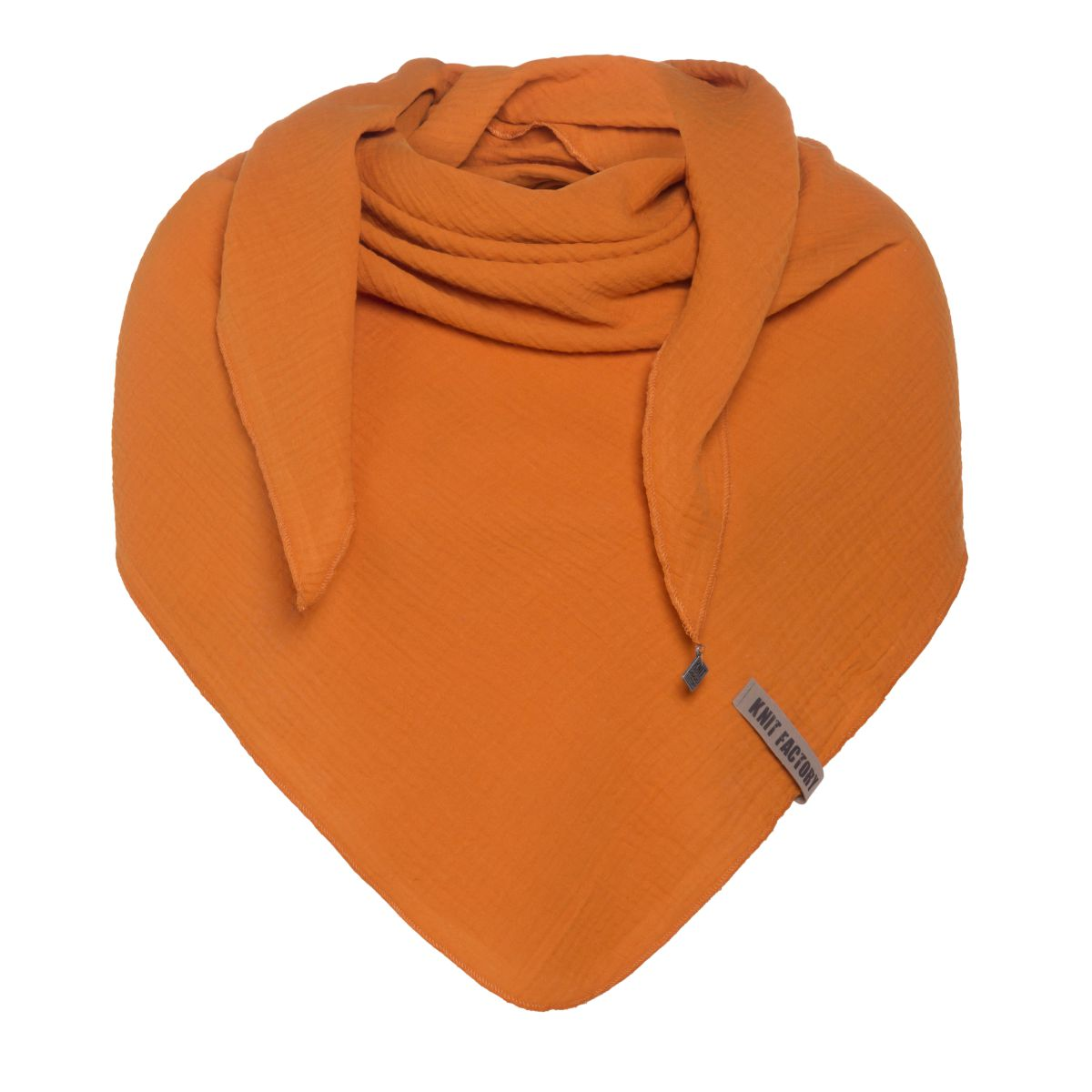 knit factory kf128060036 liv omslagdoek roest 1