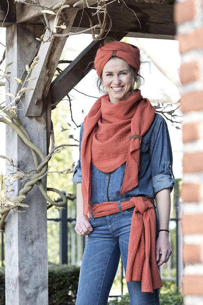 liv scarf anthracite
