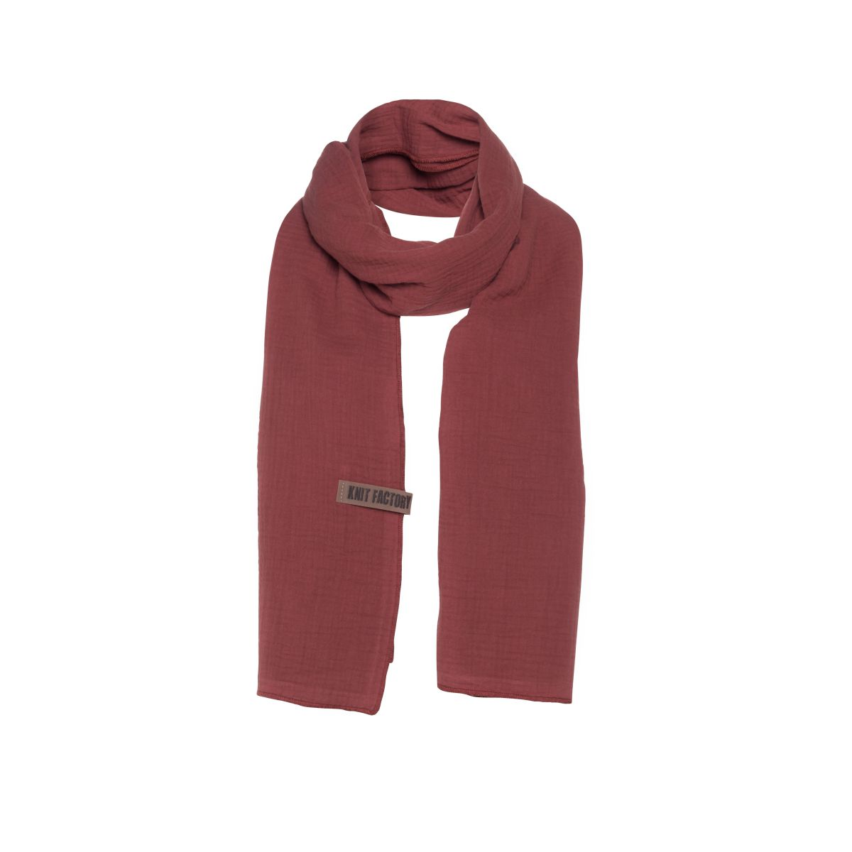 liv scarf stone red