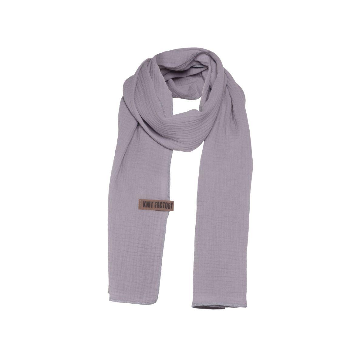 knit factory 1286511 liv sjaal grijs 1