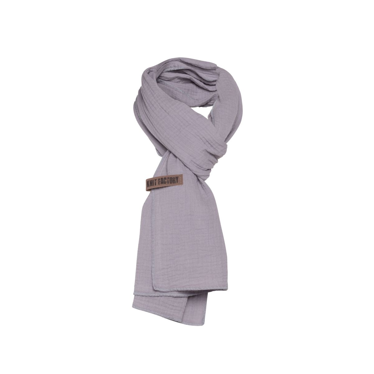 knit factory 1286511 liv sjaal grijs 2