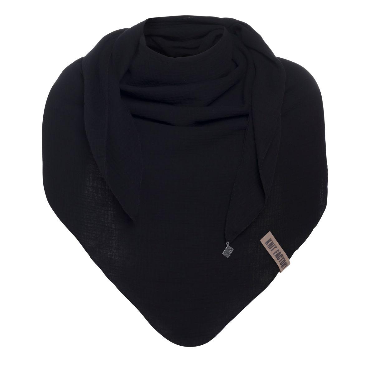 liv triangle scarf black