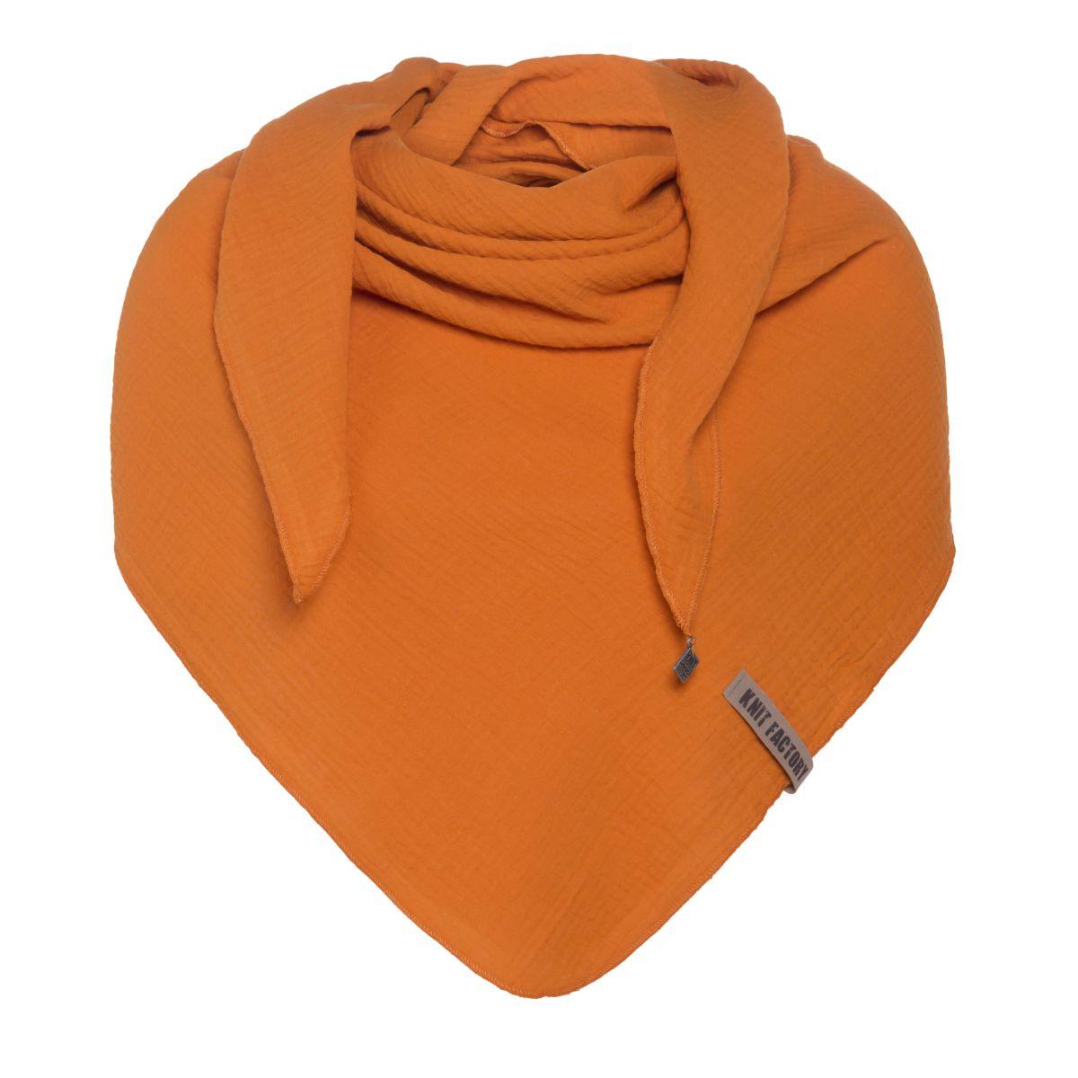 liv triangle scarf rust