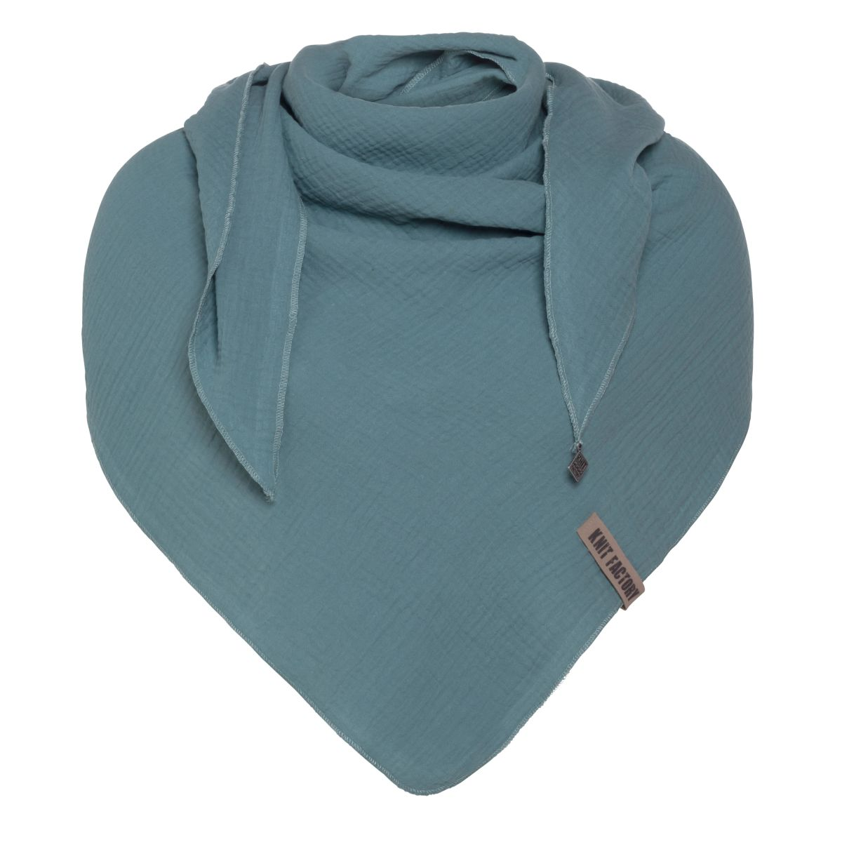 liv triangle scarf stone green