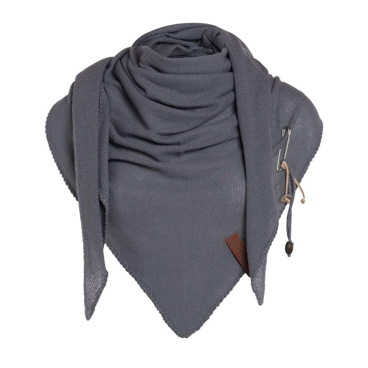 lola dreieckstuch gestrickt med grey