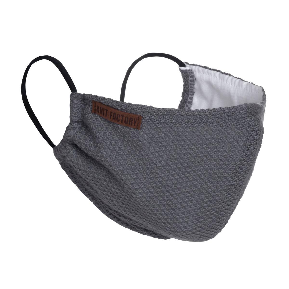 knit factory kf13010500650 lola mondmasker med grey 1