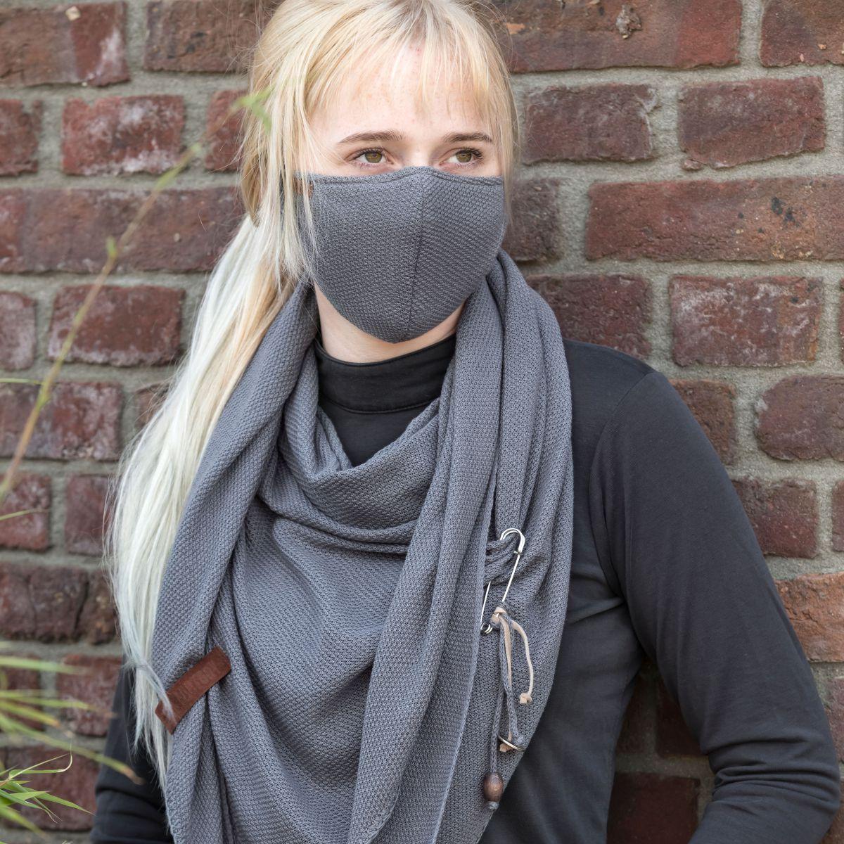 knit factory kf13010500650 lola mondmasker med grey 2