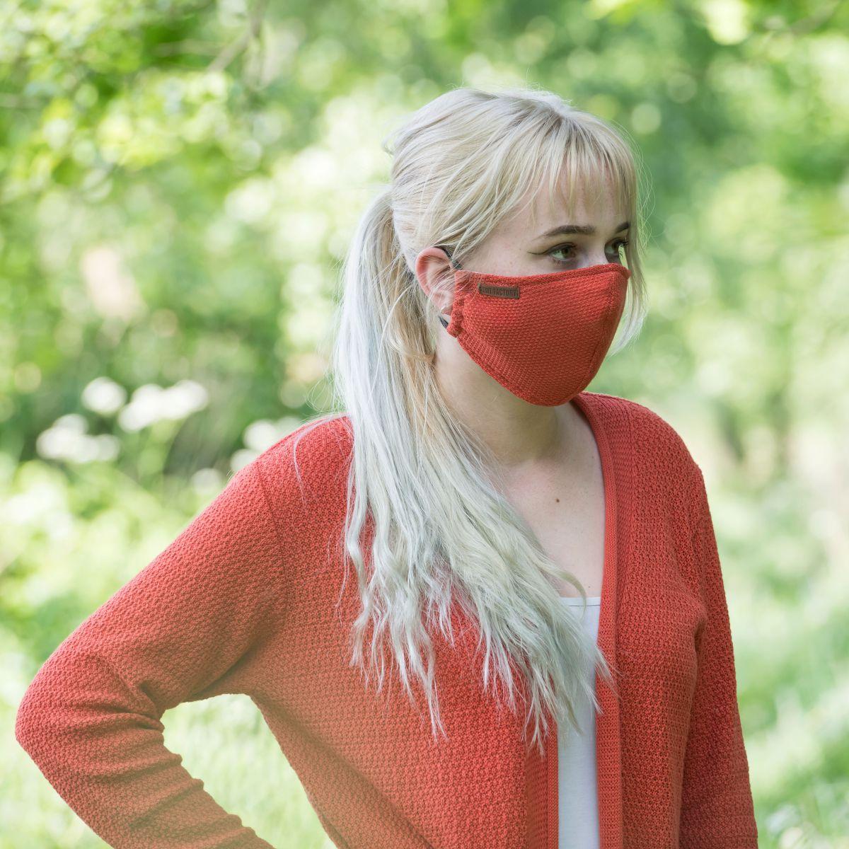 knit factory kf13010501650 lola mondmasker terra 2