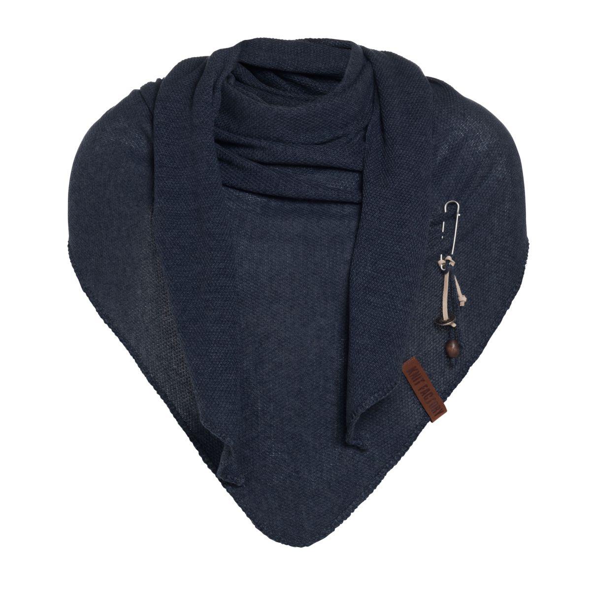 knit factory 1306026 lola omslagdoek navy1