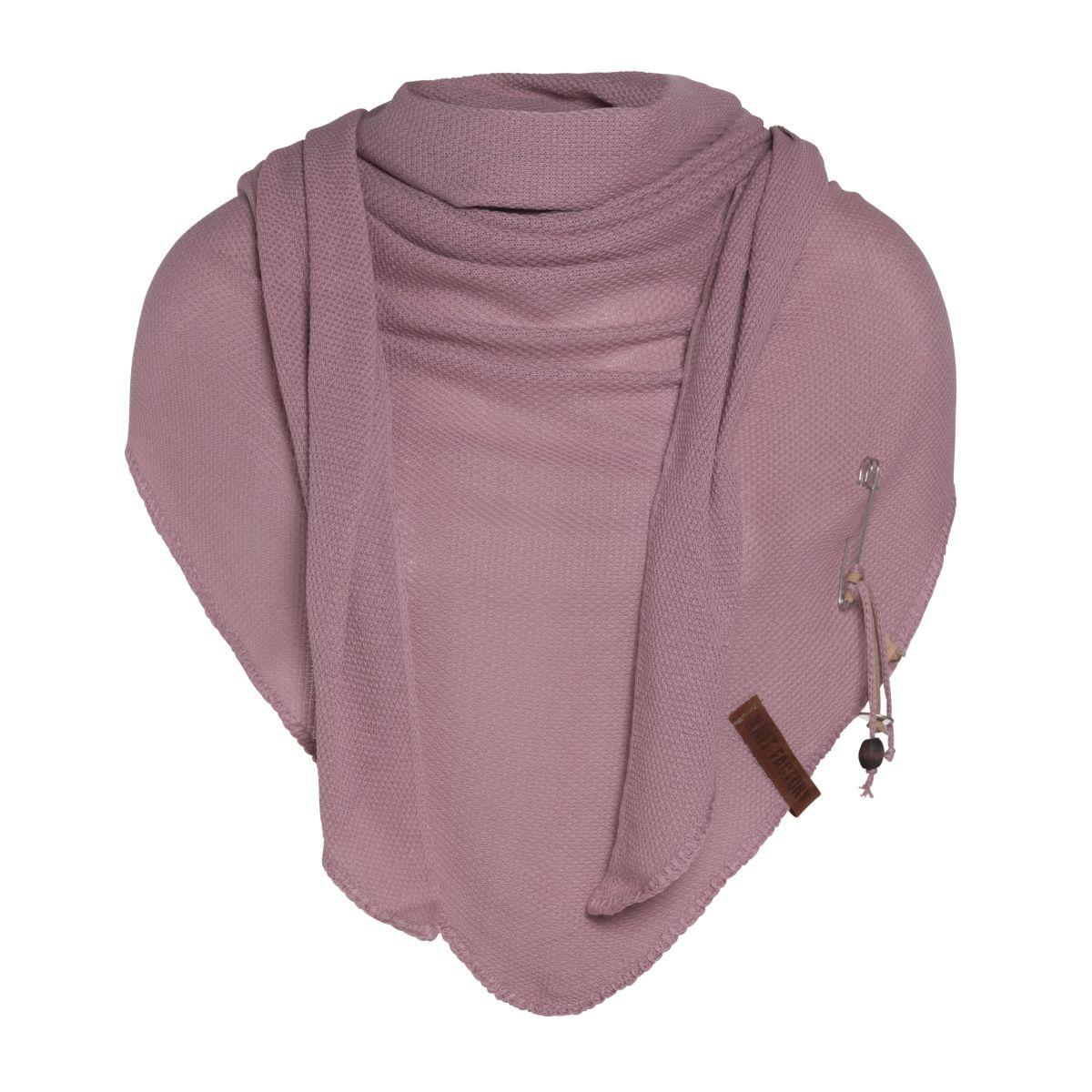 knit factory kf130060022 lola omslagdoek oud roze 1