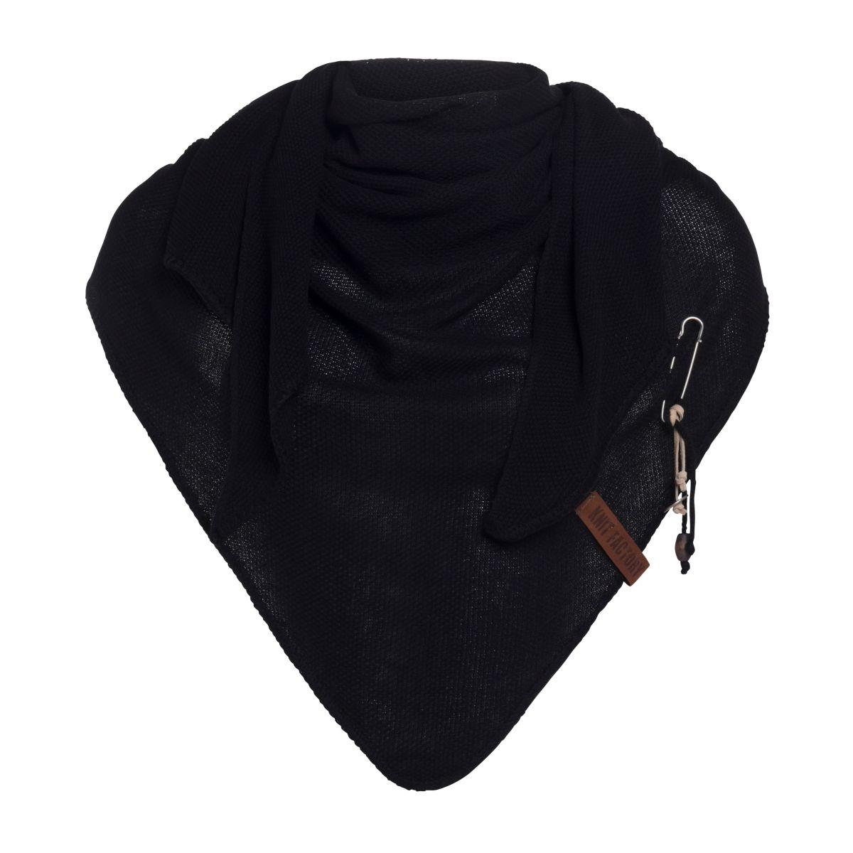 knit factory 1306000 lola omslagdoek zwart1