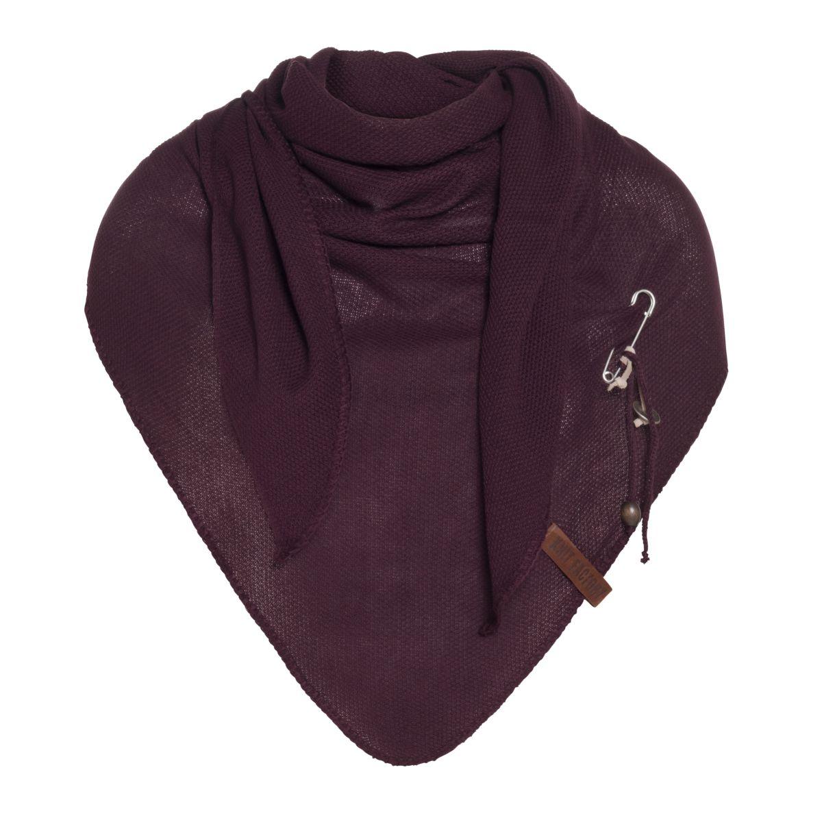 lola triangle scarf aubergine