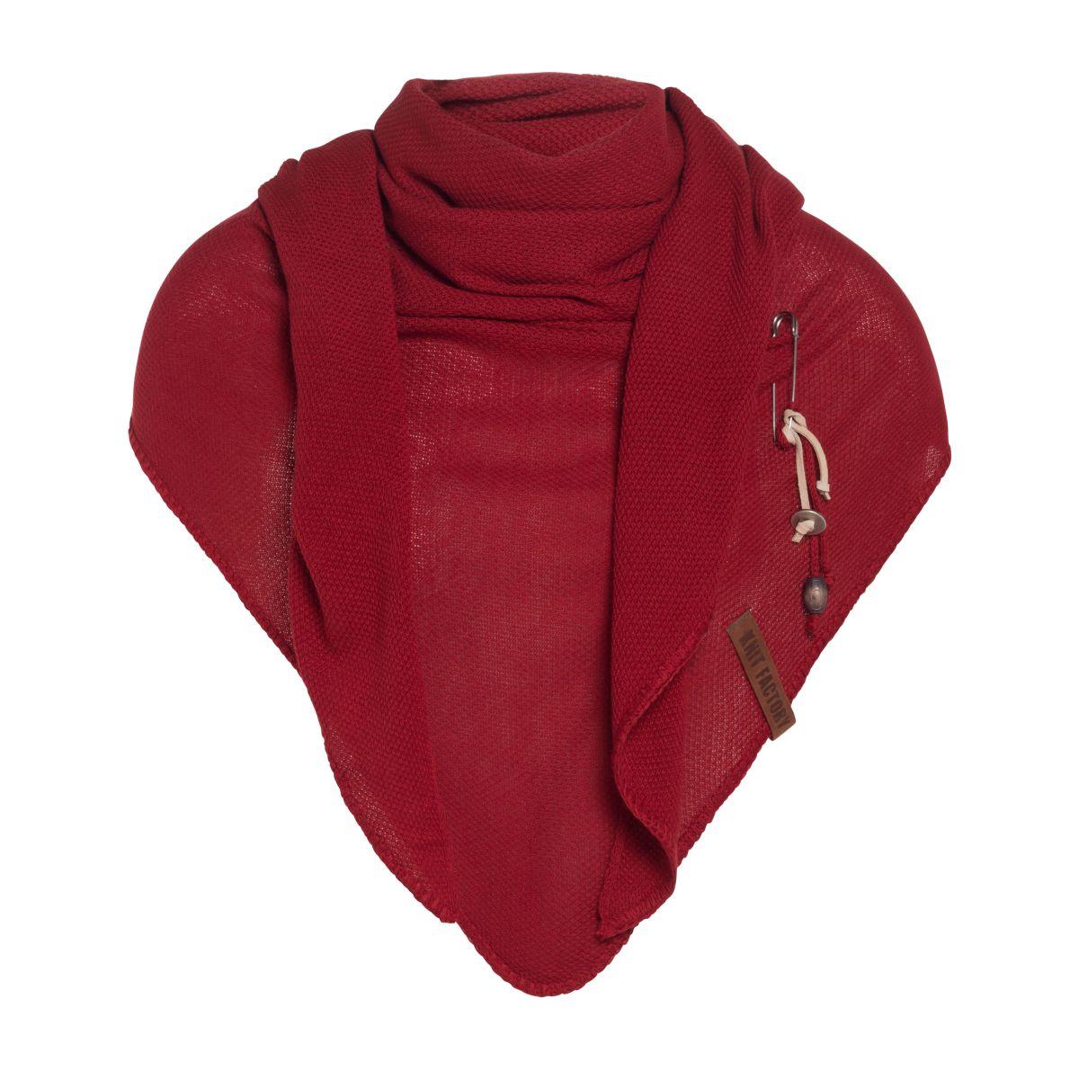 lola triangle scarf bordeaux