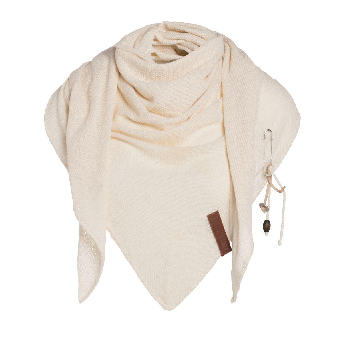 lola triangle scarf ecru