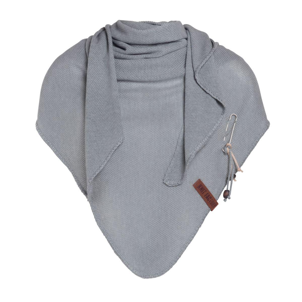 lola triangle scarf light grey