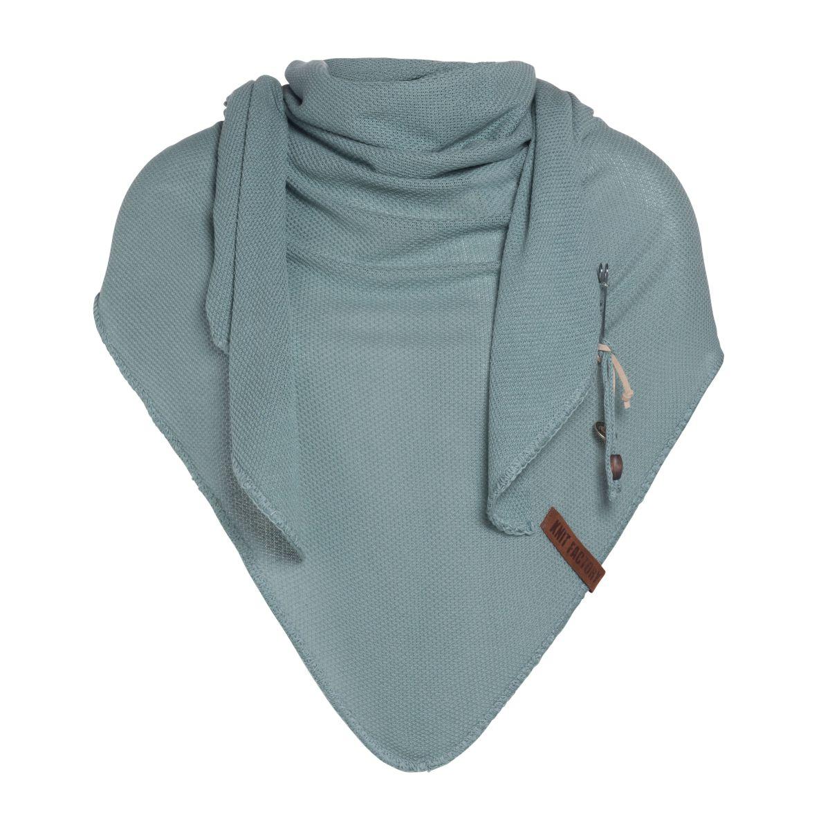 lola triangle scarf stone green