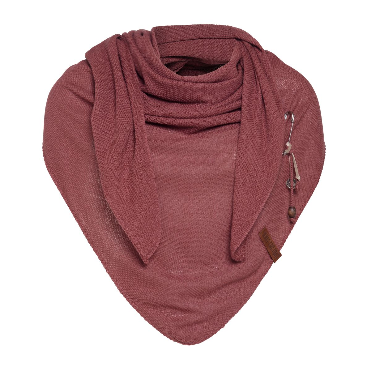 lola triangle scarf stone red