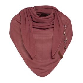 Lola Triangle Scarf Stone Red
