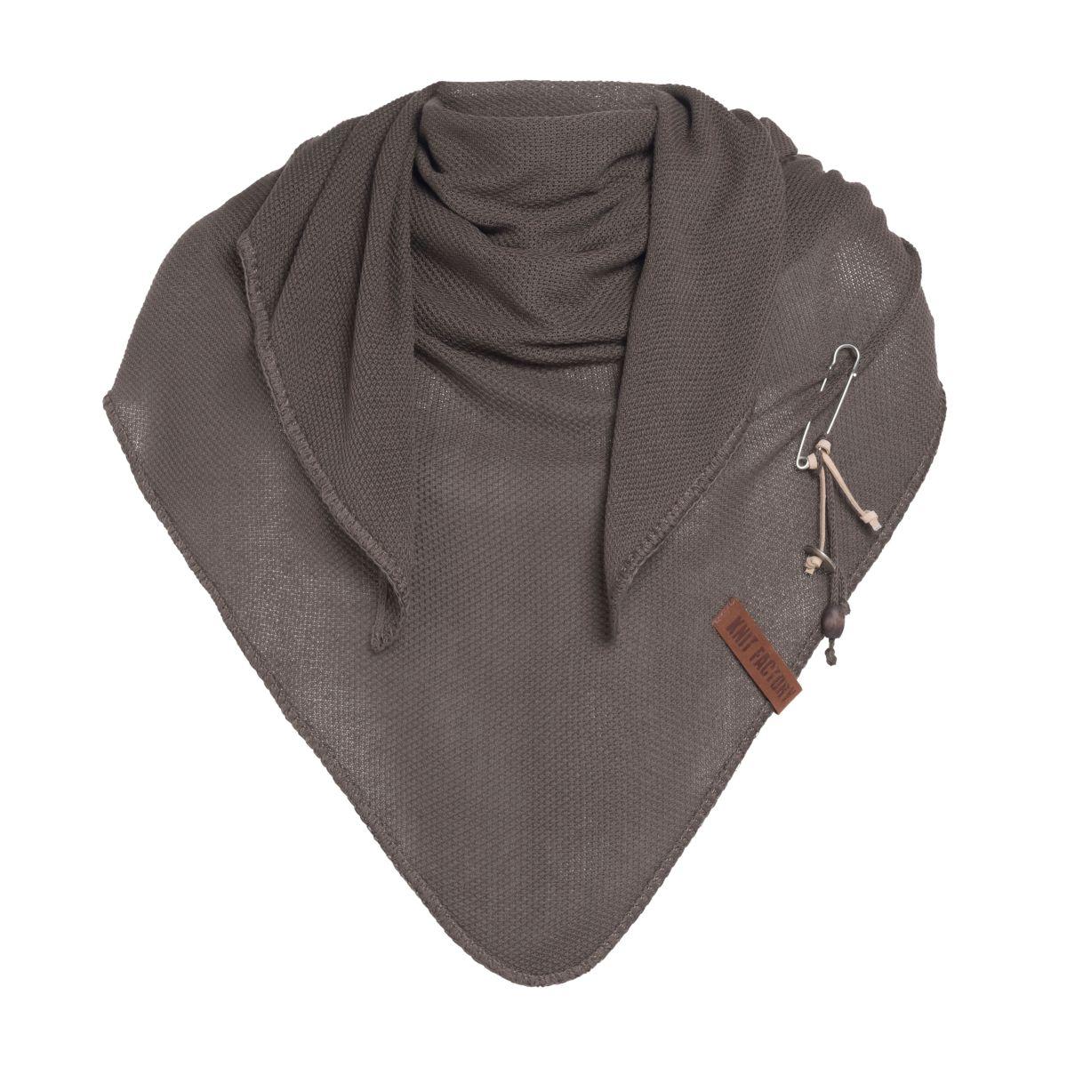 lola triangle scarf taupe