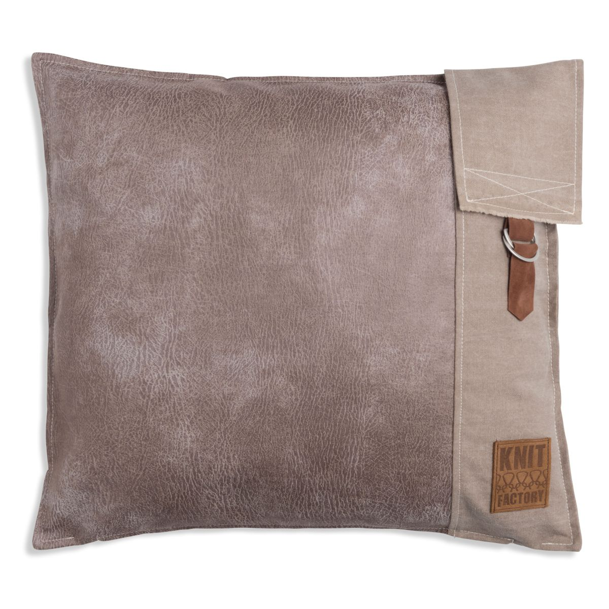 knit factory 1271212 kussen 50x50 luc beige 1