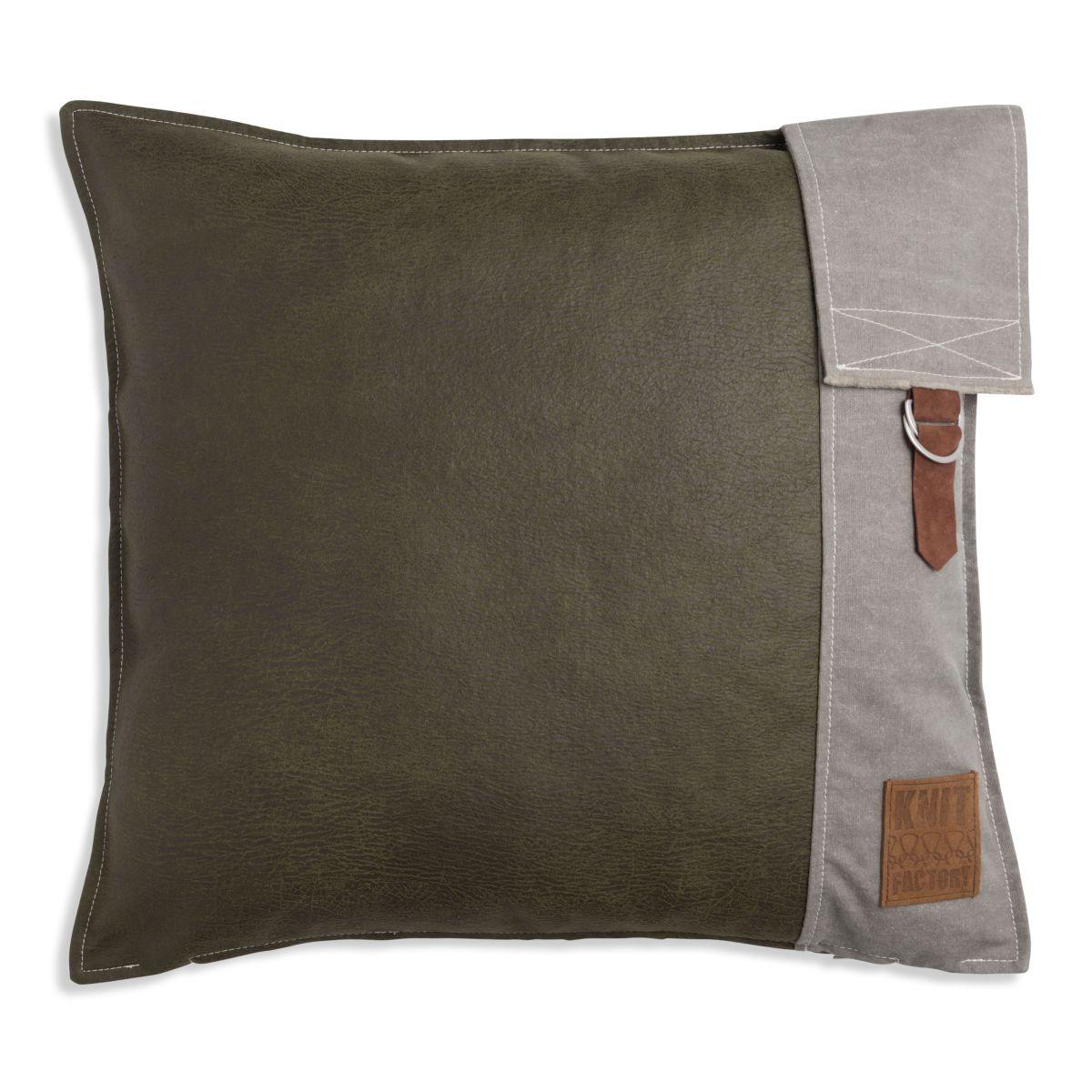 knit factory 1271214 kussen 50x50 luc groen 1