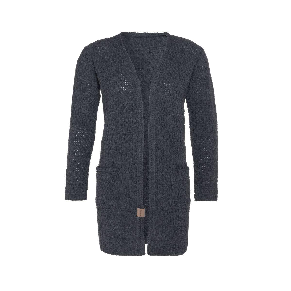 knit factory kf13308101051 luna vest antraciet 4042 1