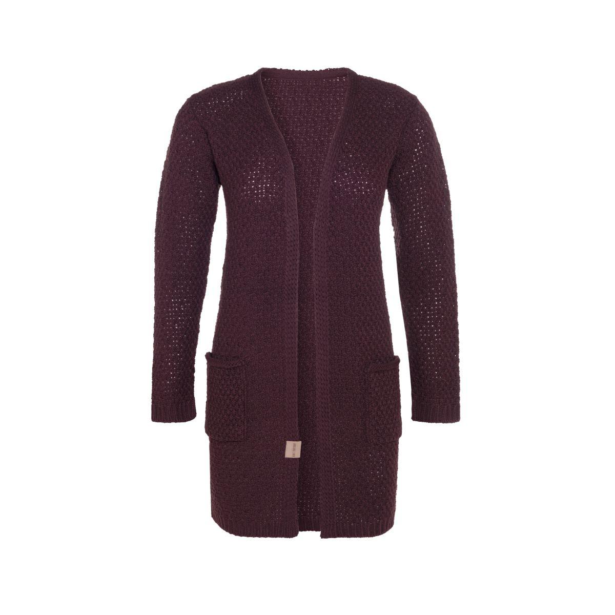 knit factory kf13308102351 luna vest aubergine 4042 1