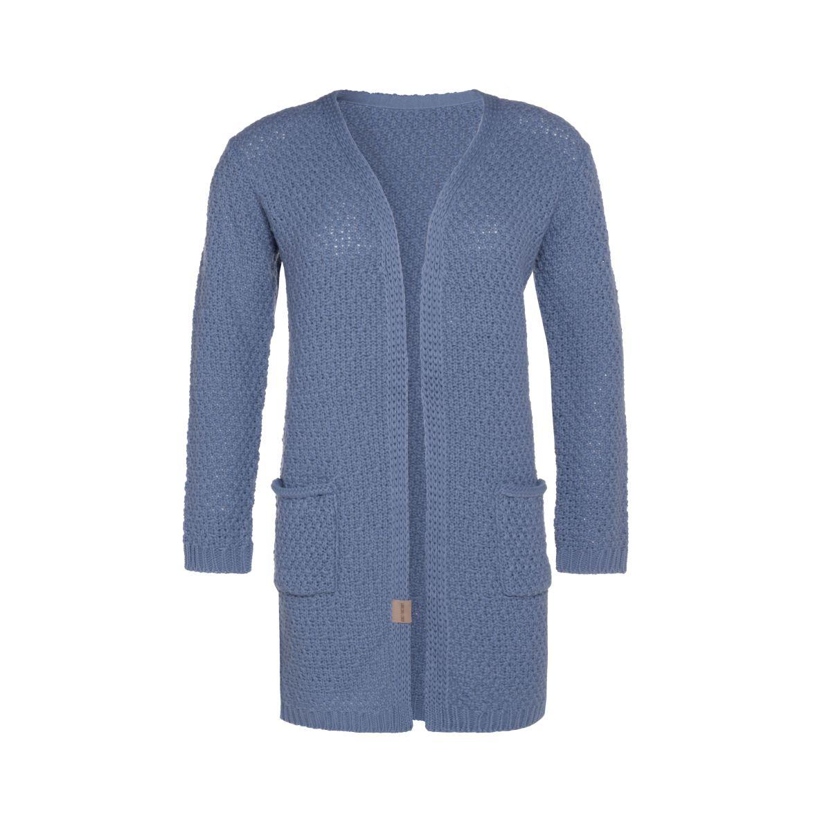 knit factory kf13308103251 luna vest indigo 4042 1