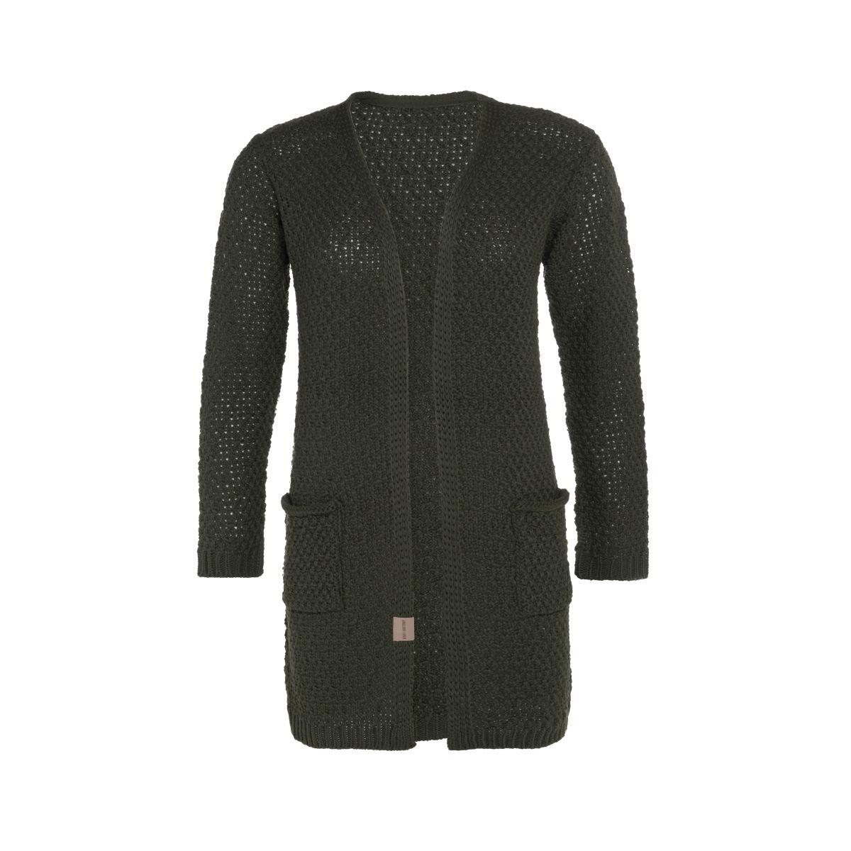 knit factory kf13308102551 luna vest khaki 4042 1
