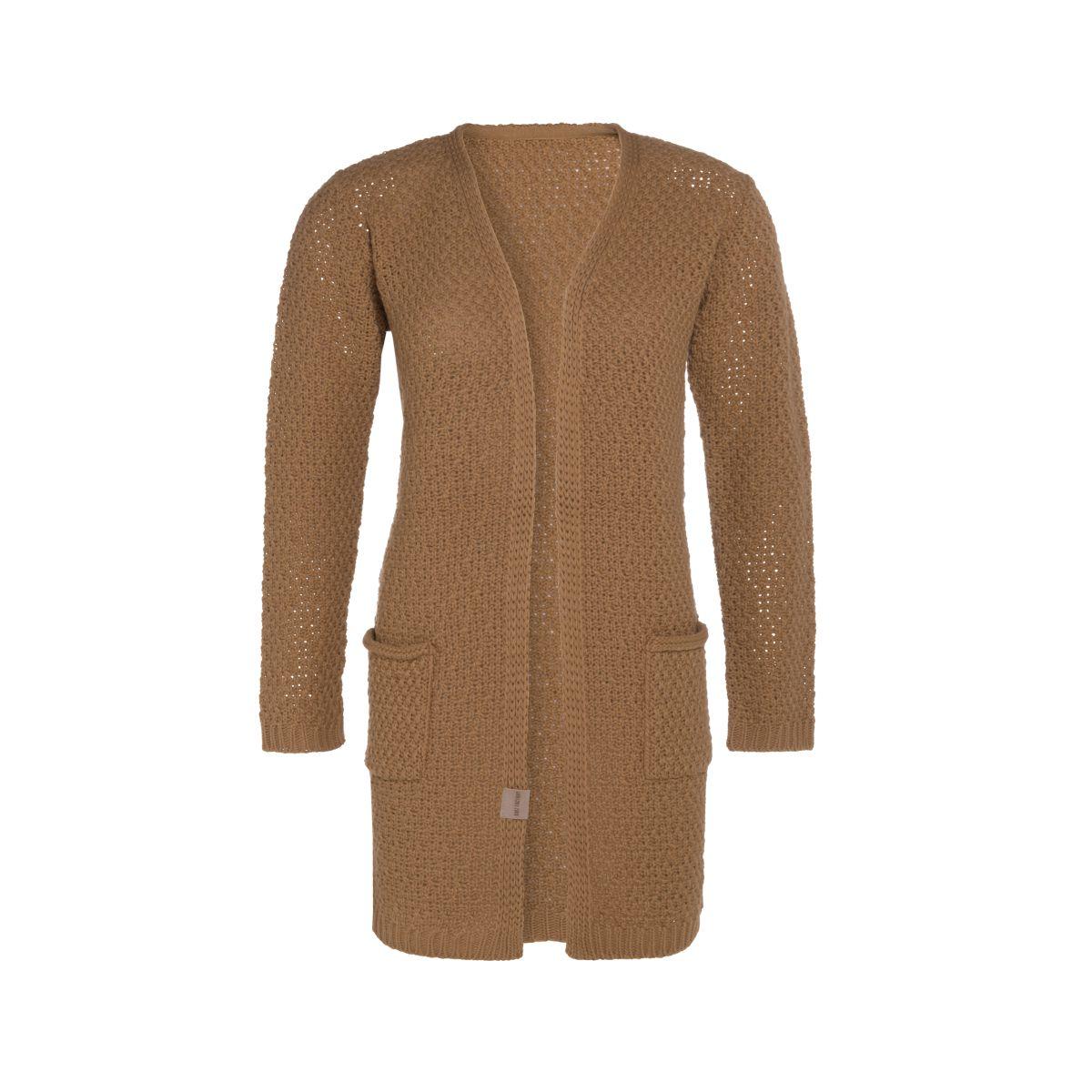 knit factory kf13308102051 luna vest new camel 4042 1