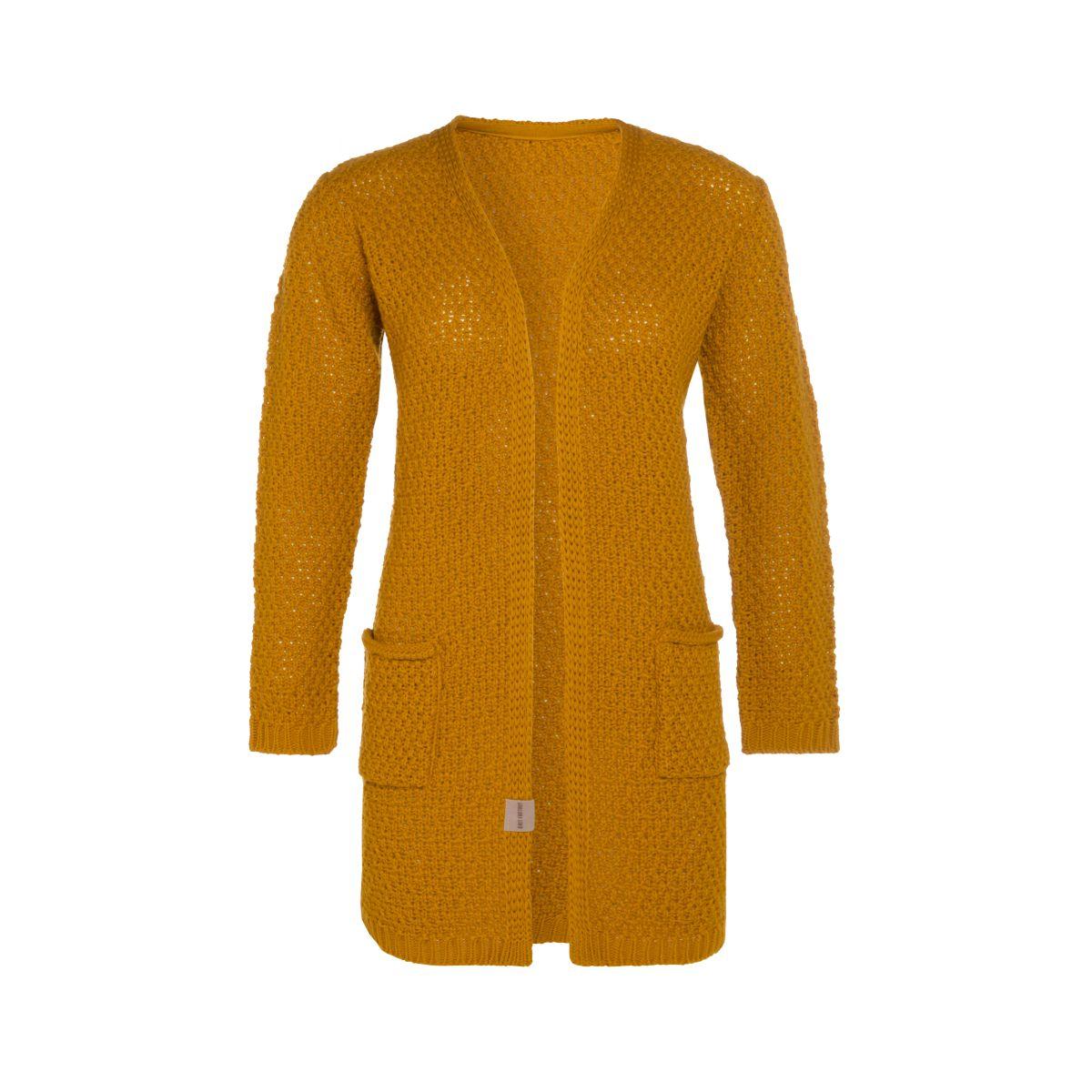 knit factory kf13308101749 luna vest oker 3638 1
