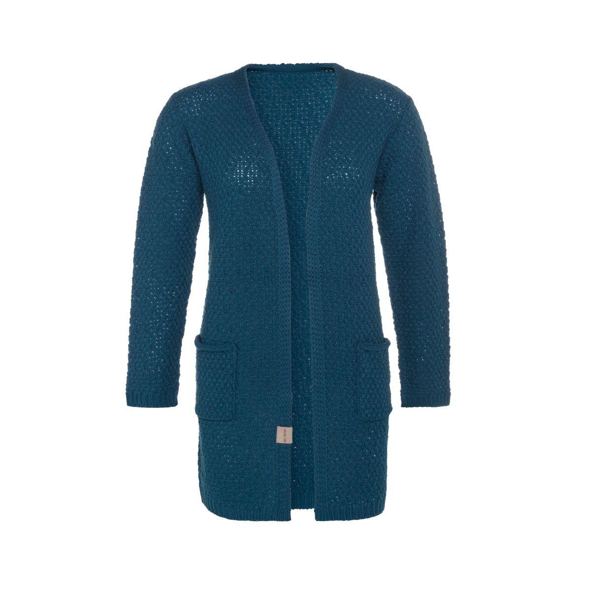 knit factory kf13308100851 luna vest petrol 4042 1