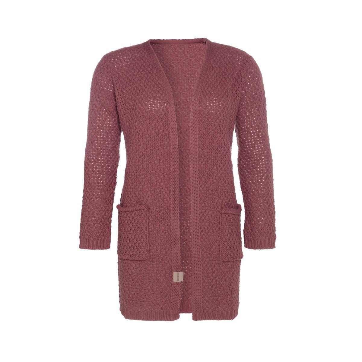 knit factory kf13308103851 luna vest stone red 4042 1