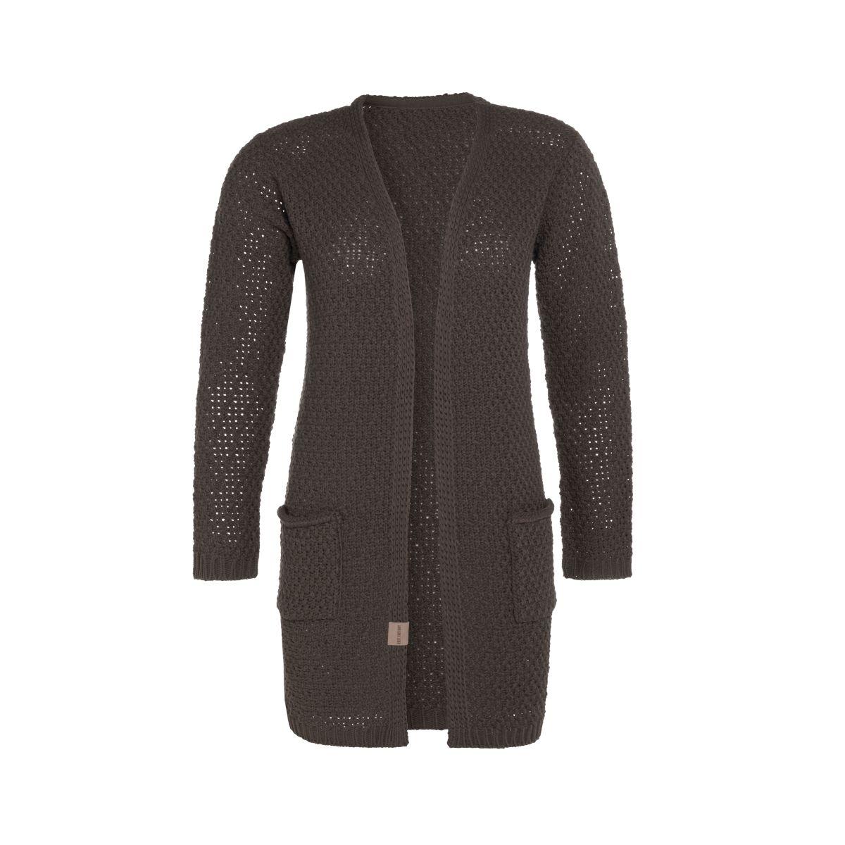 knit factory kf13308102951 luna vest taupe 4042 1