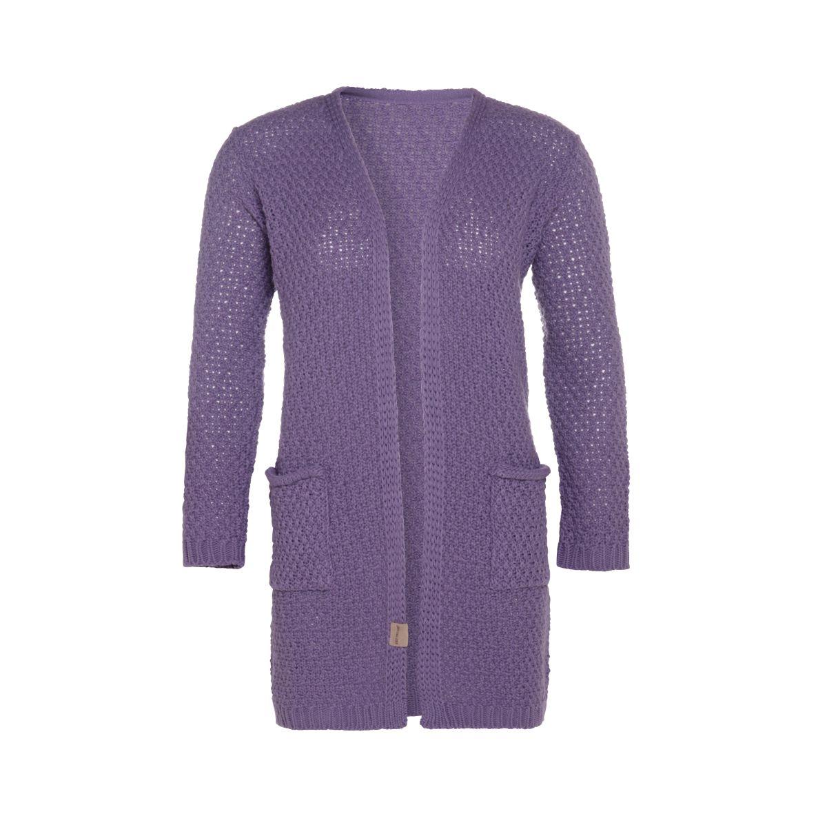 knit factory kf13308104351 luna vest violet 4042 1