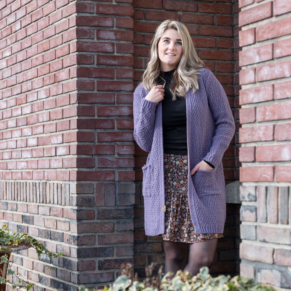 knit factory kf13308104351 luna vest violet 4042 2