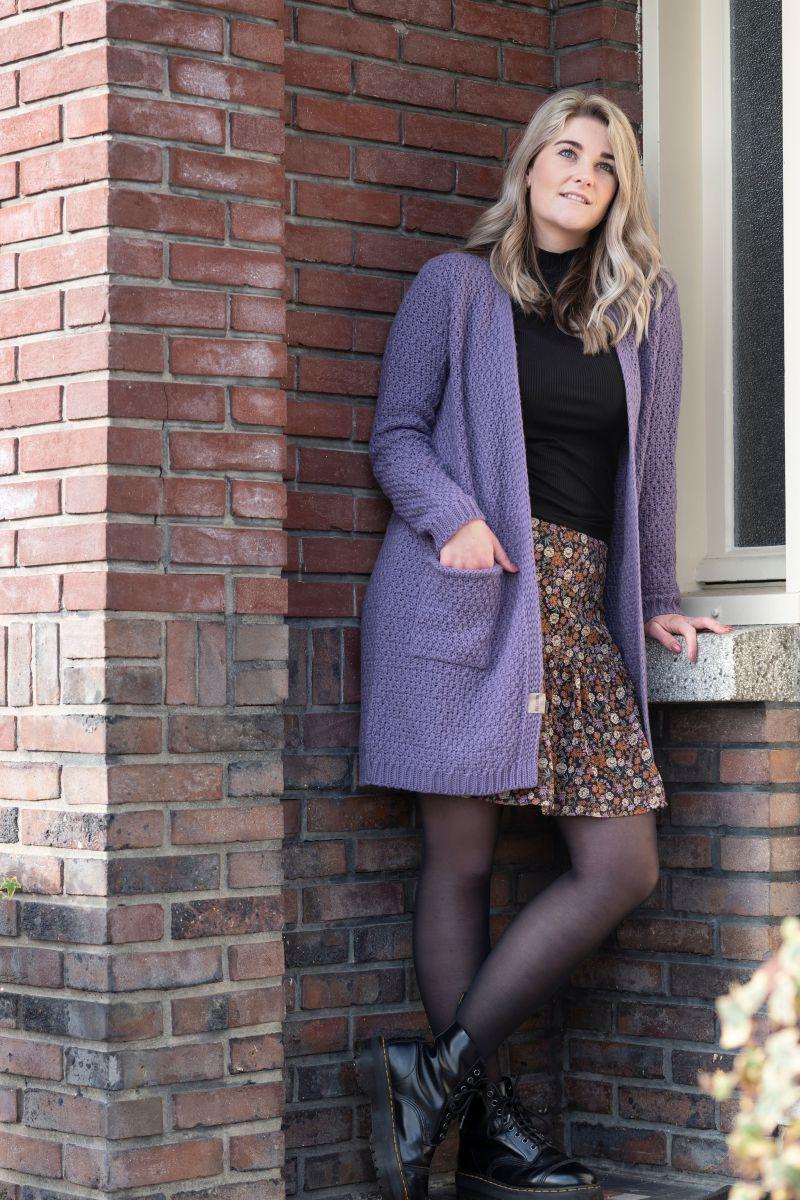 knit factory kf13308104351 luna vest violet 4042 3