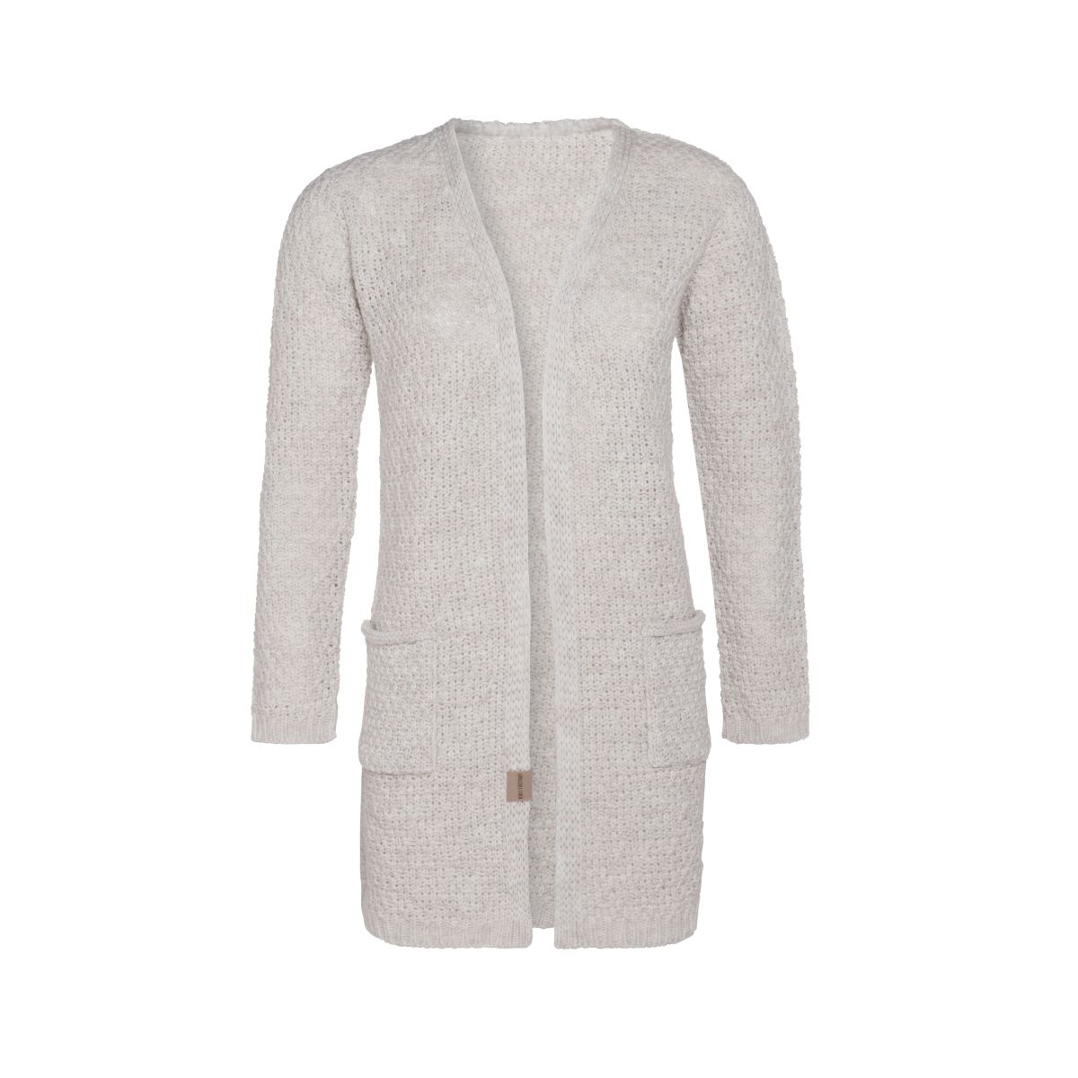 luna knitted cardigan beige 4042 with side pockets