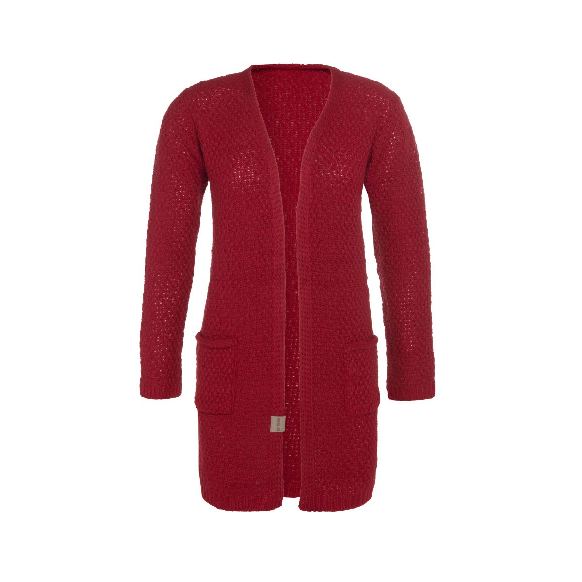 luna knitted cardigan bordeaux 3638 with side pockets