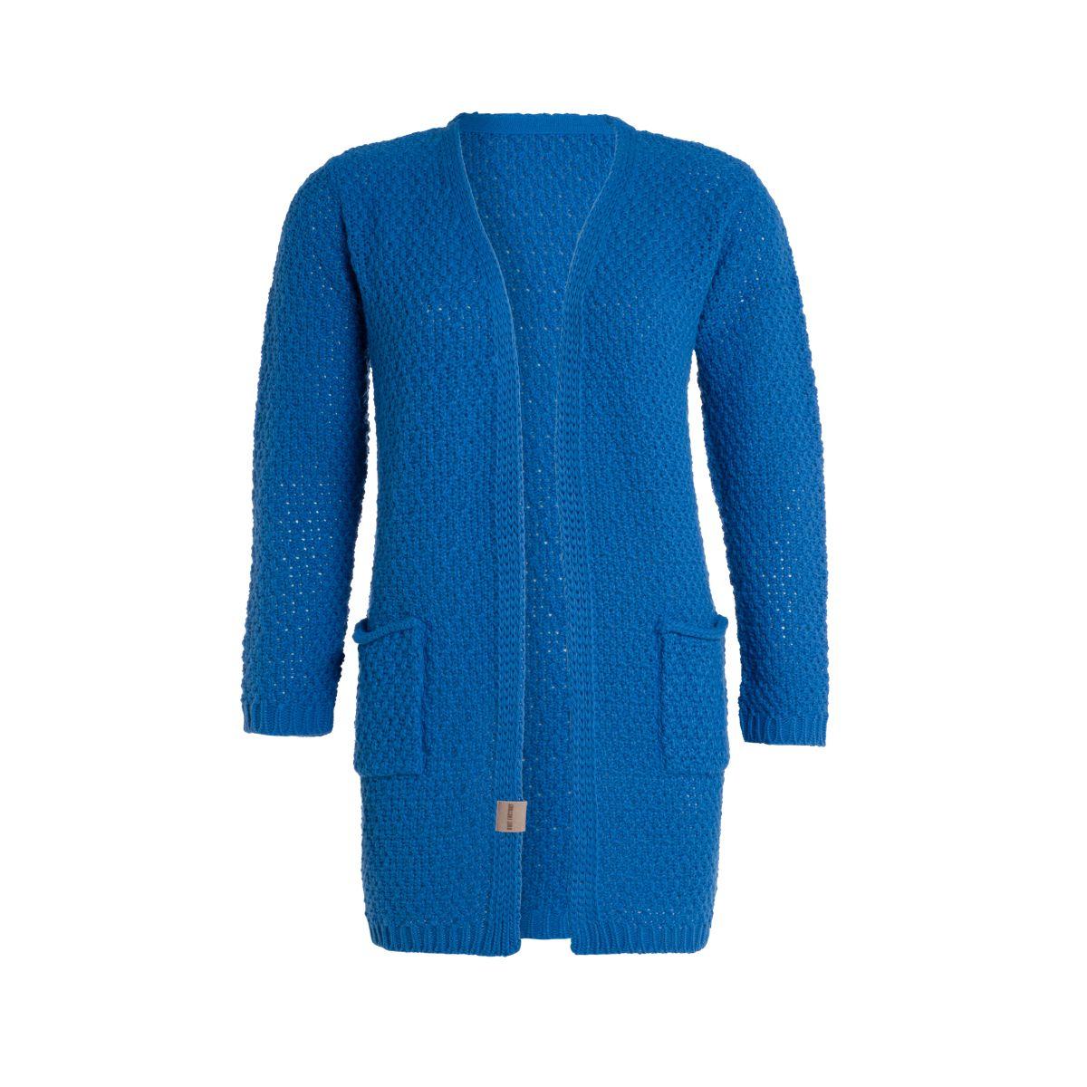 luna knitted cardigan cobalt 4042 with side pockets