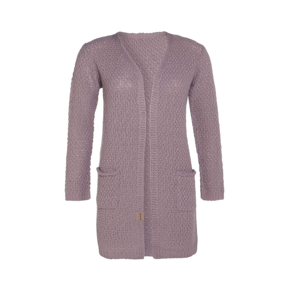 luna knitted cardigan mauve 3638 with side pockets