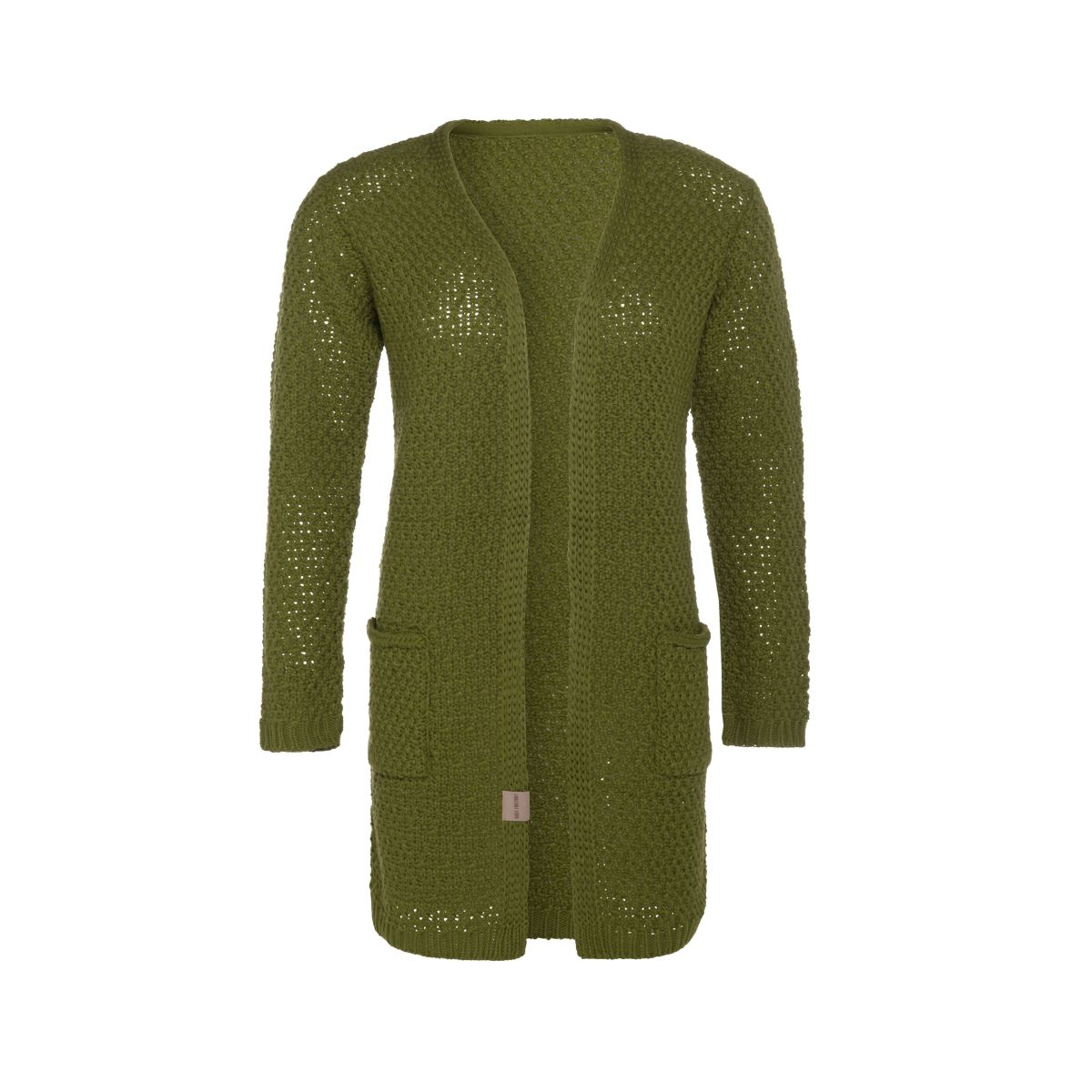 luna knitted cardigan moss green 3638 with side pockets
