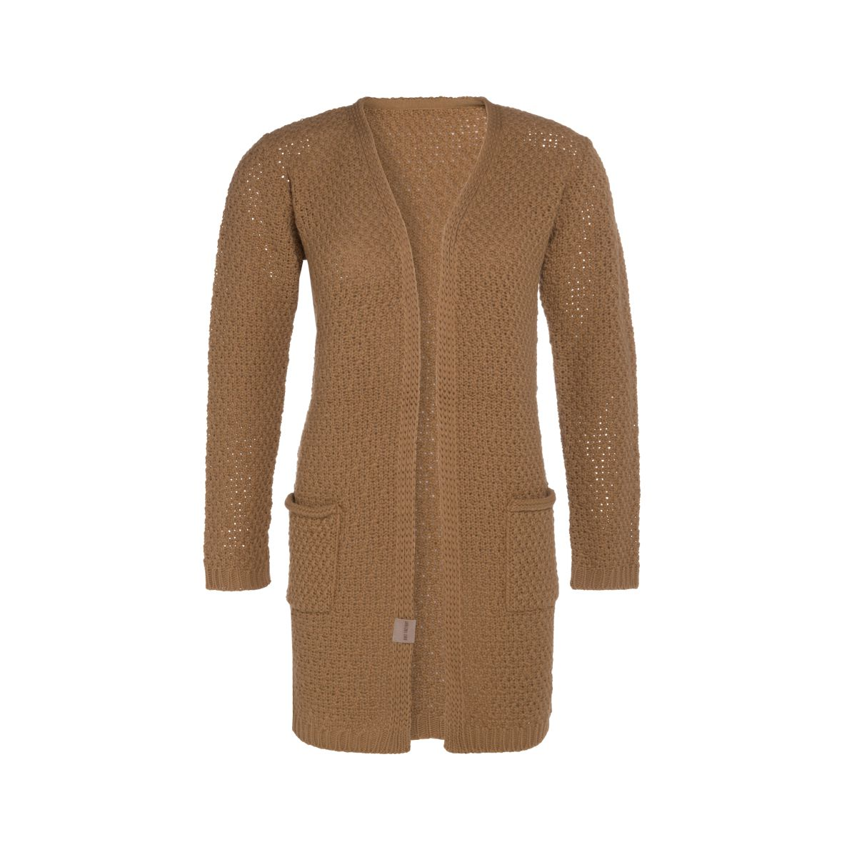 luna knitted cardigan new camel 4042 with side pockets
