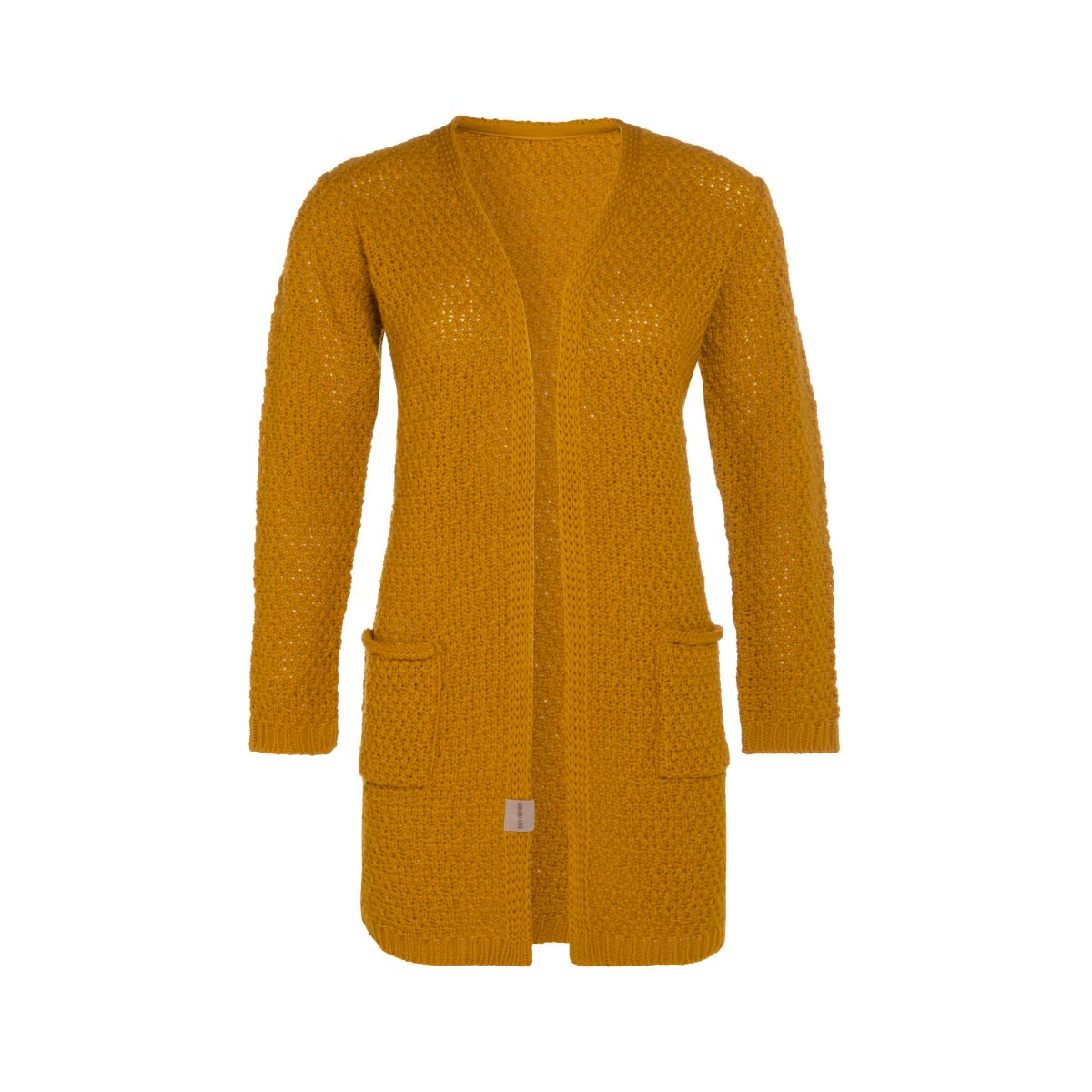 luna knitted cardigan ochre 4042 with side pockets