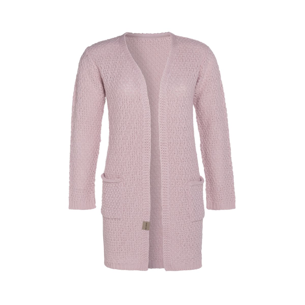 luna knitted cardigan pink 3638 with side pockets