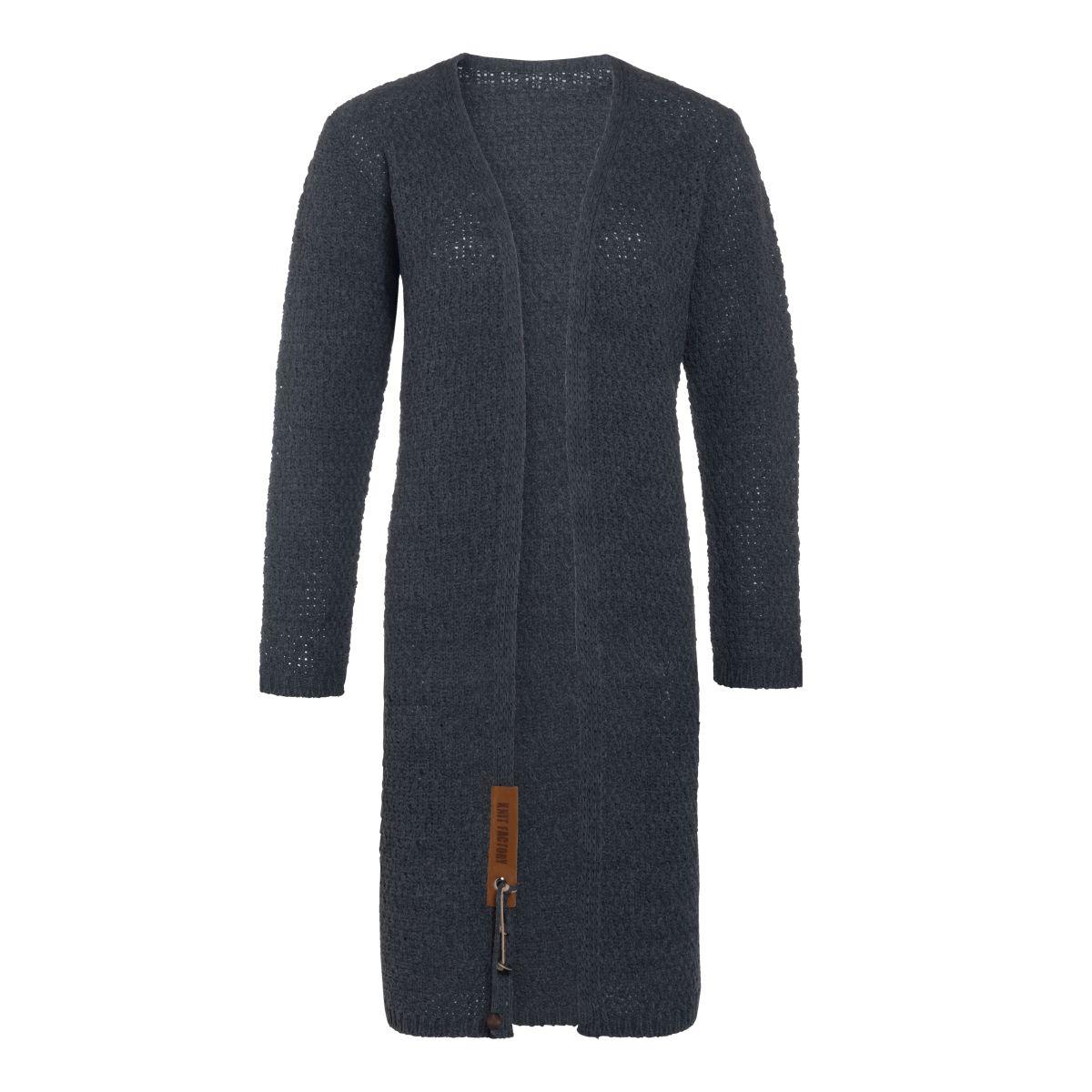 knit factory 1336310 luna vest 4042 antraciet 1